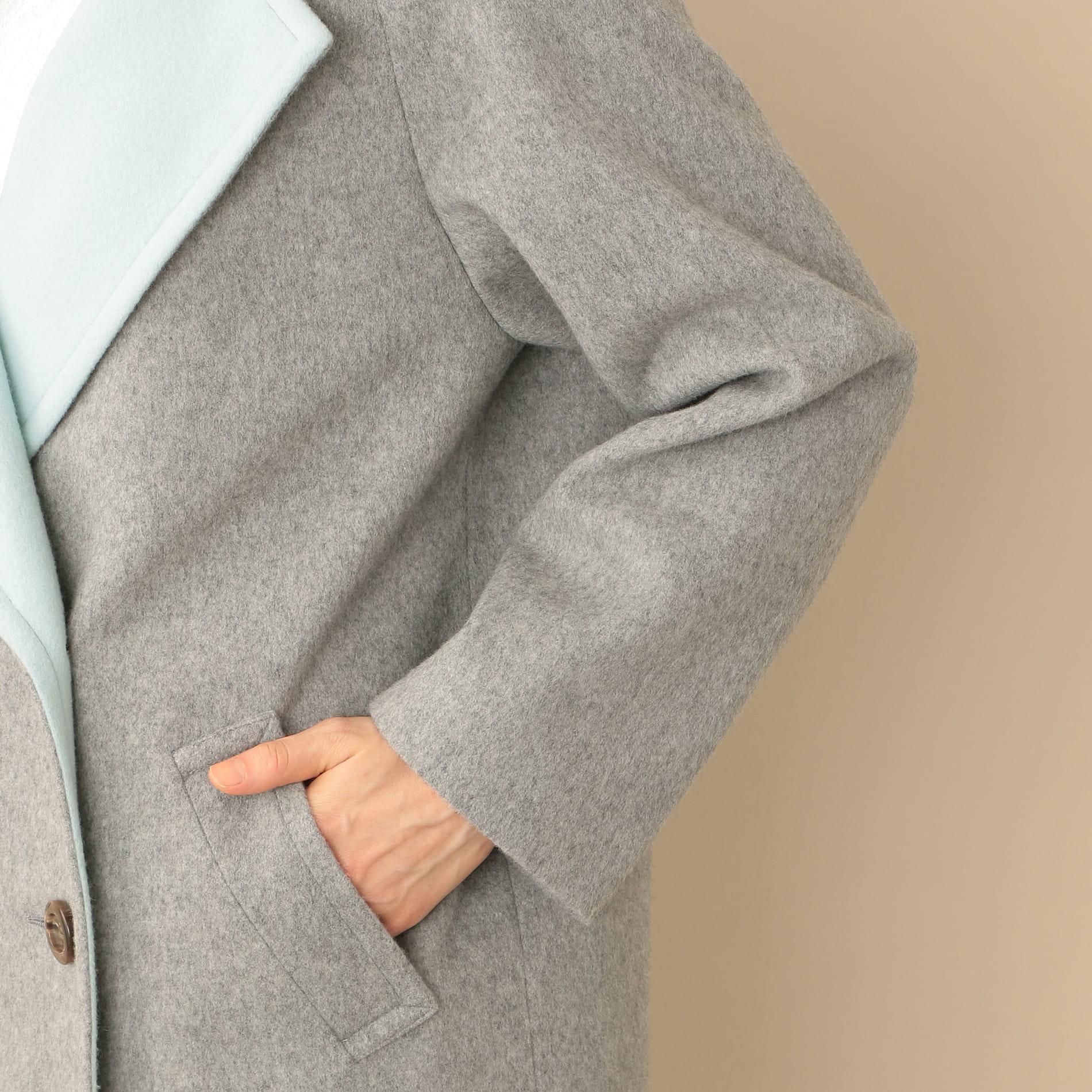 【Oggi12月号掲載】バイカラーウールコート