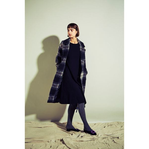 【Oggi12月号掲載】チェックシャギーコート
