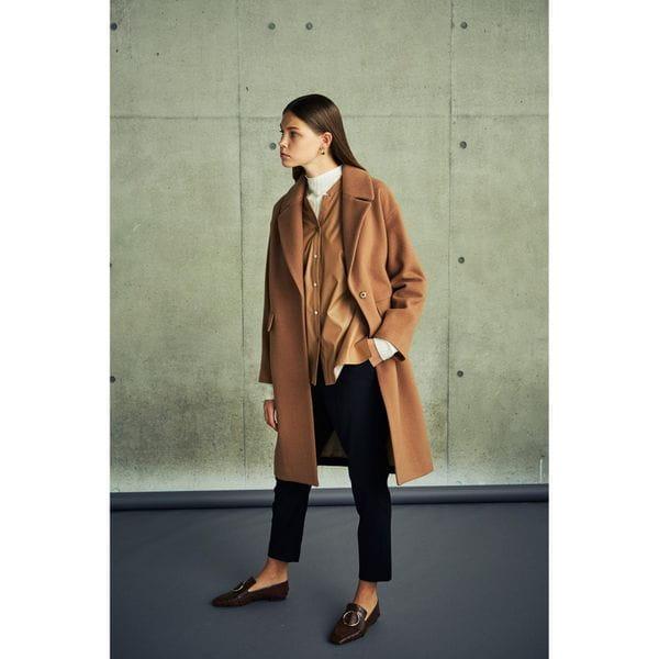 バイカラーチェスタ―コート