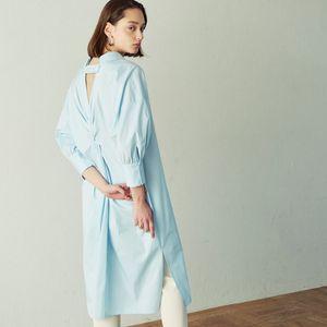 【TVドラマ着用】バックポイントシャツワンピース