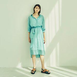 【Oggiコラボ商品】シャツワンピース