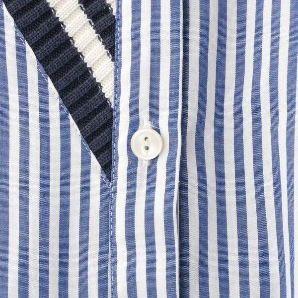 ニットコンビロングシャツ