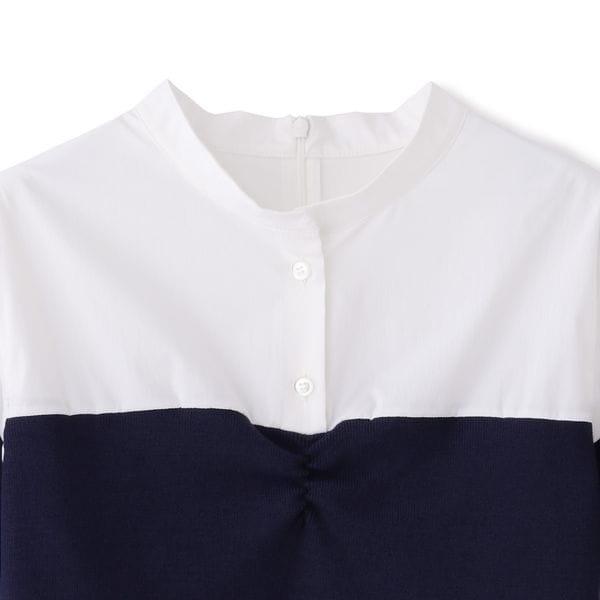 ニットコンビチュニックシャツ