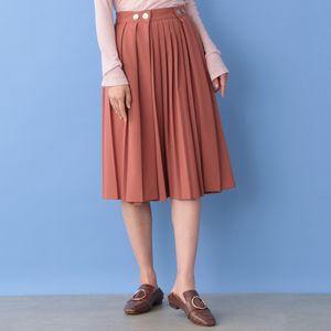 ウールブレンド プリーツスカート