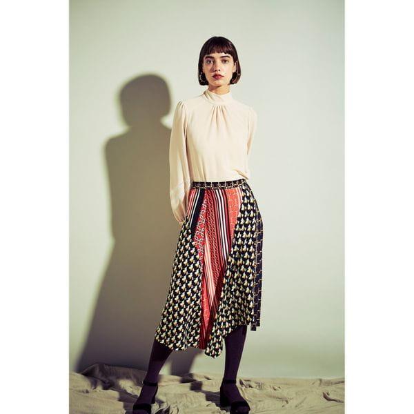 【Oggi12月号掲載】モチーフMIXプリントスカート