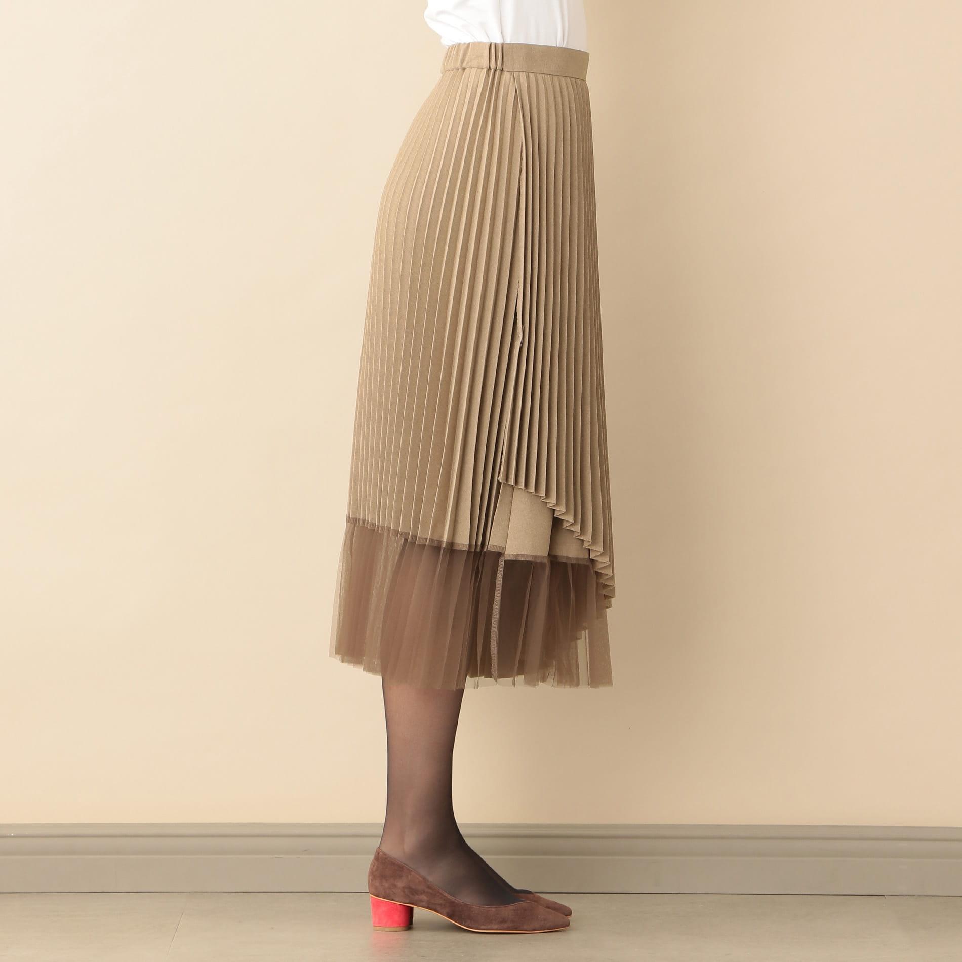 【Oggi12月号掲載】チュールコンビラップスカート