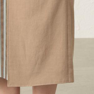 ストライプコンビスカート