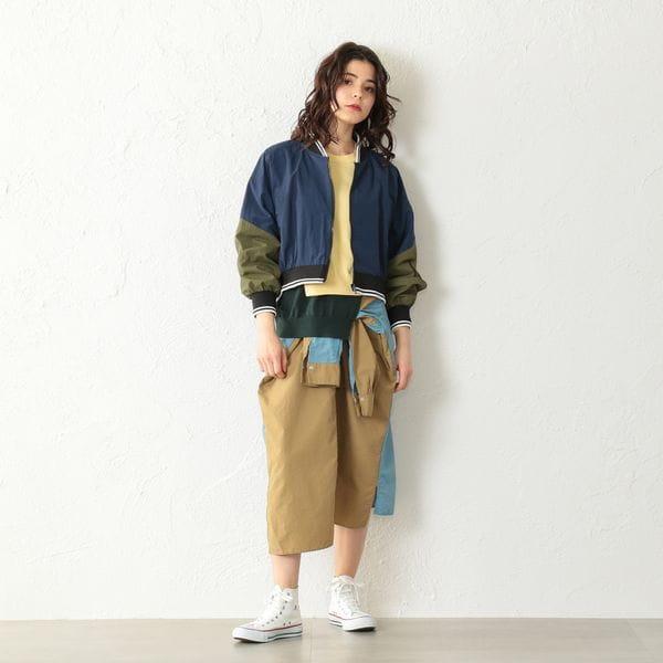 【店舗限定】ナイロンブルゾン風スカート